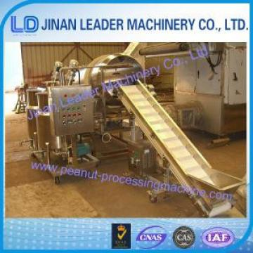 500kg/h Peanut Processing Machine , Drum Continuous Seasoning Machine