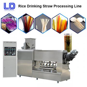 Rice drinking straw processing line